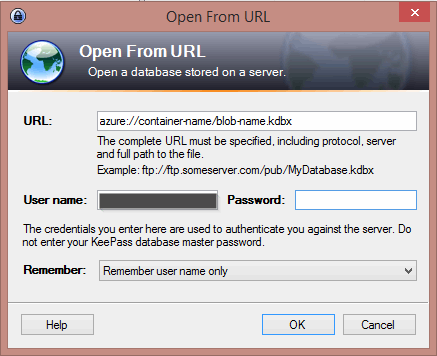 Open From URL in KeePass